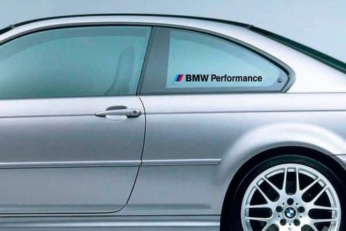 PAIR BMW Performance M3 M5 E34 E36 E39 E46 E60 E70 E90 Window Decal sticker logo