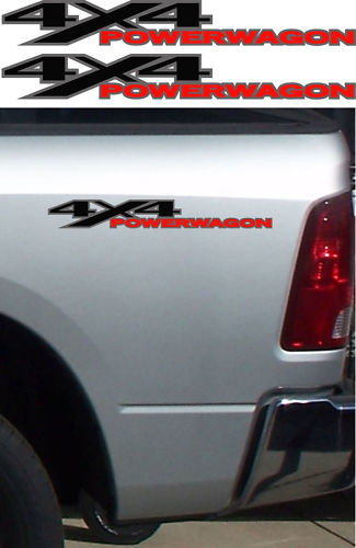 2 DODGE RAM 4x4 POWER WAGON TRUCK Vinyl Decals Stickers