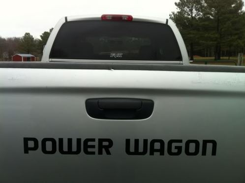 2 POWER WAGON TRUCK Vinyl Decals Stickers