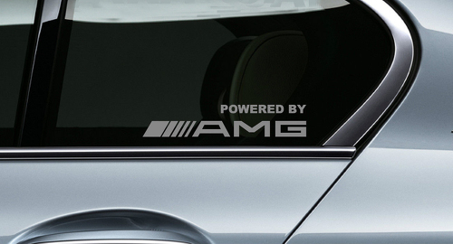 2 POWERED BY AMG Mercedes Benz Racing Decal sticker window