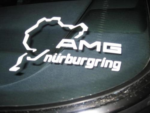 Pair AMG Nurburgring Ring window body racing vinyl decal sticker 5.5