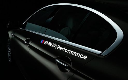 Pair BMW Performance logo vinyl stickers decals for M3 M5 M6 e36 fits all model