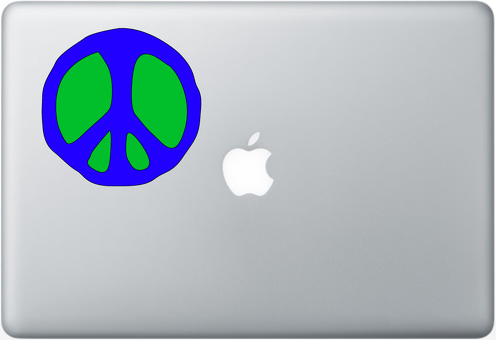 Peace Apple Macbook Decal Sticker