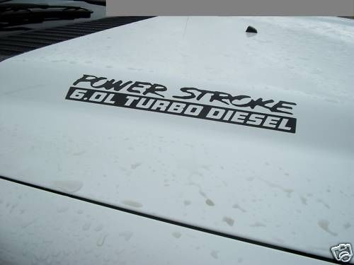 2 PowerStroke Power Stroke Turbo Diesel Hood Engine decals Ford F250 F350 V8