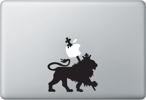 Rasta Lion Apple Macbook Decal Sticker#1