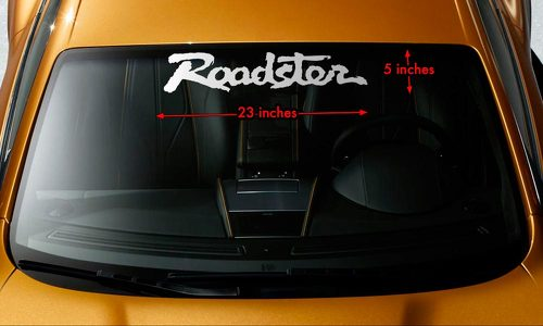 ROADSTER MIATA MX-5 MAZDA Windshield Banner Premium Vinyl Decal Sticker 23