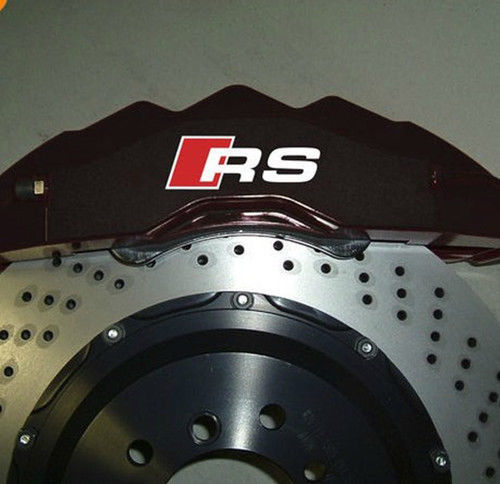 AUDI RS Premium Brake Caliper Decal Sticker TT A3 A4 S3 Q5 S-lin