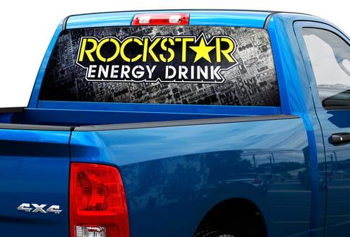Rockstar Energy Drink Heckscheibenaufkleber Aufkleber Pick-up Truck SUV Car 2
