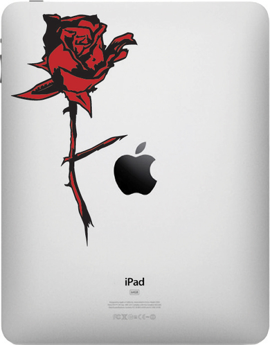 Rose Apple iPad Decal Sticker