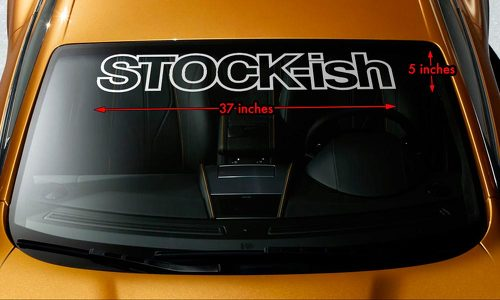 STOCK-ish HONDA TOYOTA SUBARU MITSUBISHI Windshield Banner Vinyl Decal Sticker