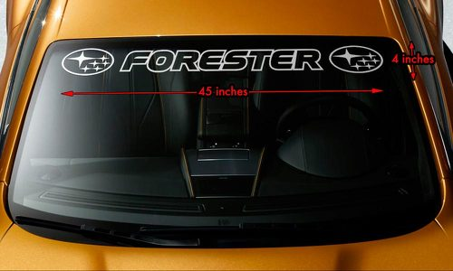 SUBARU FORESTER OUTLINE STYLE #2 Windshield Banner Vinyl Decal Sticker 45x4