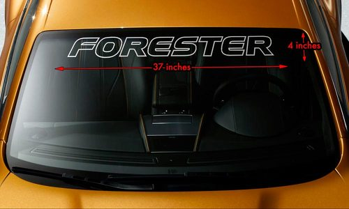 SUBARU FORESTER OUTLINE Windshield Banner Long Lastin Vinyl Decal Sticker 37x4