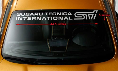 SUBARU STI TECNICA INTERNATIONAL Windshield Banner Vinyl Decal Sticker 44.5x5