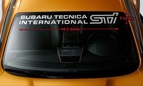 SUBARU STI TECNICA INTERNATIONAL Windschutzscheiben Banner Vinyl Aufkleber Aufkleber 44,5x5