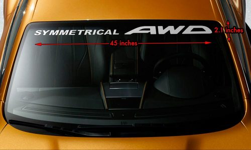 SUBARU SYMMETRICAL AWD Windshield Banner Long Lasting Vinyl Decal Sticker