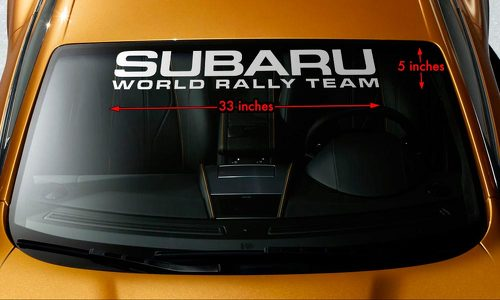 SUBARU WORLD RALLY TEAM WRX STI WRC Windshield Banner Vinyl Decal Sticker 33