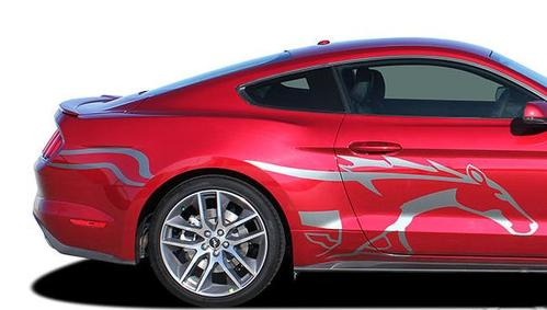 Side Horse STEED Vinyl Graphic Pony Stripe Decal 3M Vinyl fits 2015 Ford Mustang