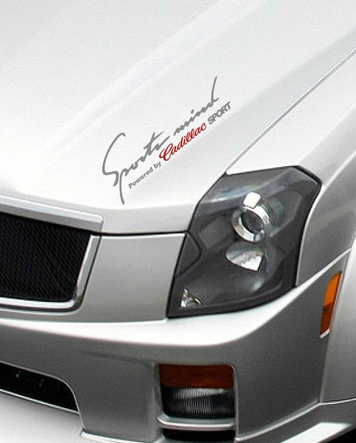Sports mind Powered by CADILLAC SPORT Decal sticker