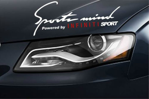 2 Sports Mind Power by INFINITI SPORT G37 G35 FX35 EX3 Decal sti