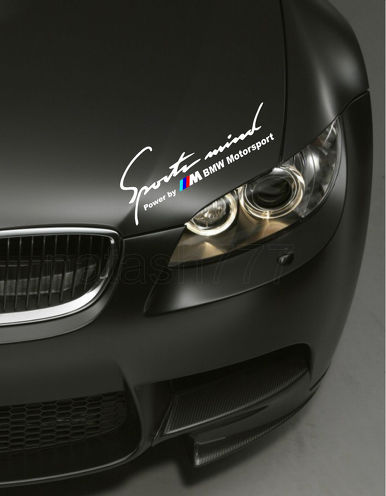 2 Sports Mind Power by M BMW Motorsport M3 M5 M6 E36 Decal