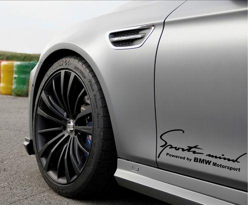 2 Sports Mind Powered by BMW Motorsport Aufkleber Aufkleber # 2