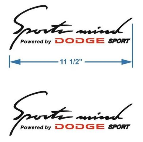 2 Sports Mind Powered by DODGE Decal stic