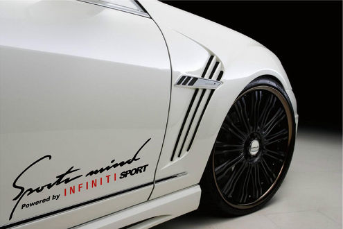 2 Sports Mind Powered by INFINITI (Red) SPORT G37 Decal sticker