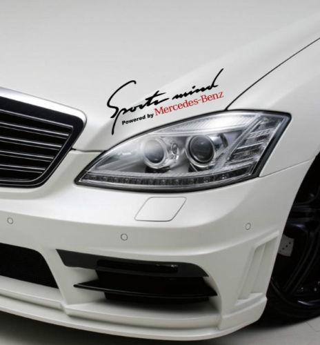 2 Sports Mind Angetrieben von Mercedes Benz Sport Racing Aufkleber sticke