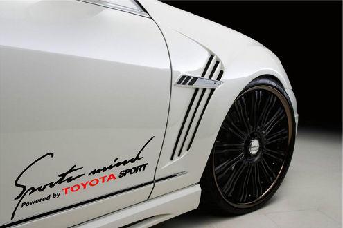 2 Sports Mind Powered by TOYOTA (Rot) SPORT Racing Aufkleber Aufkleber