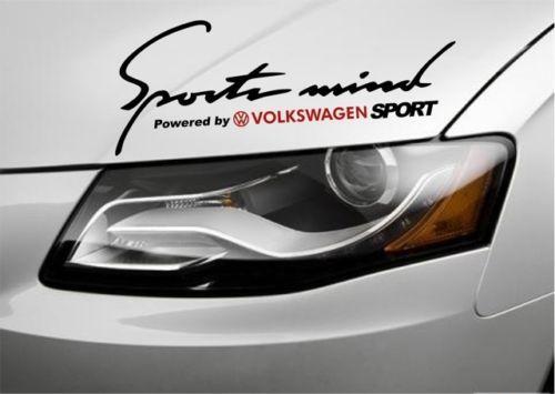2 Sports Mind Powered by VOLKSWAGEN Passat Jetta GTI Aufkleber
