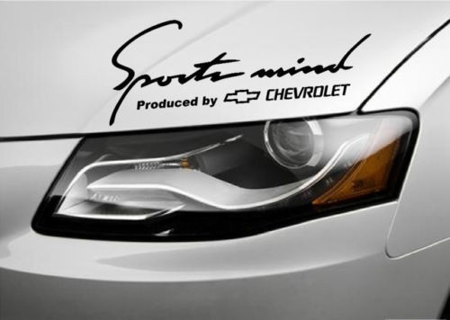 2 Sports Mind Produced by Chevrolet Racing Decal sticker