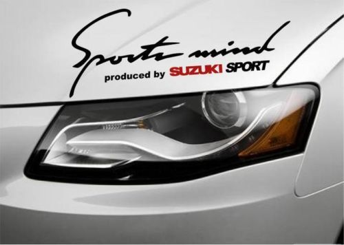 2 Sports Mind Produced by SUZUKI Sport SX4 XL7 Vitara Decal
