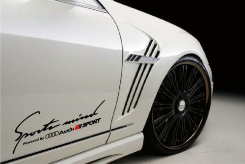 2 Sportgeist Angetrieben von AUDI SPORT RS4 S-Line Aufkleber