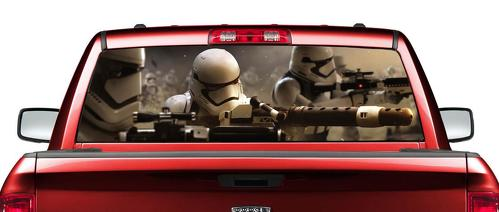 Star Wars Stormtroopers movies Rear Window Decal Sticker Pick-up Truck SUV Car