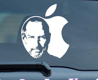 Steve Jobs Apple Sticker  Decal RIP Steve Become an Organ Donor