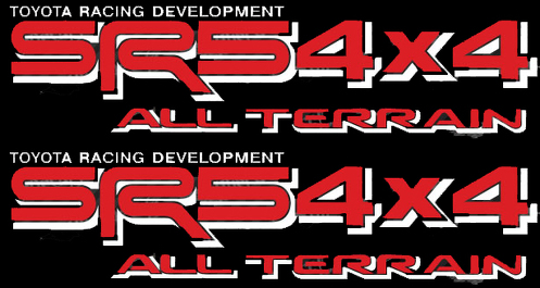 TOYOTA SR5 4X4 ALL TERRAIN DECAL Mountain Deer Hunter Decal TRD racing development side vinyl decal sticker -2