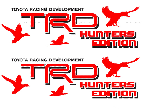 2 TOYOTA TRD HUNTER EDITION DECAL ALL TERRAIN DECAL Mountain  TRD racing development side vinyl decal sticker 2