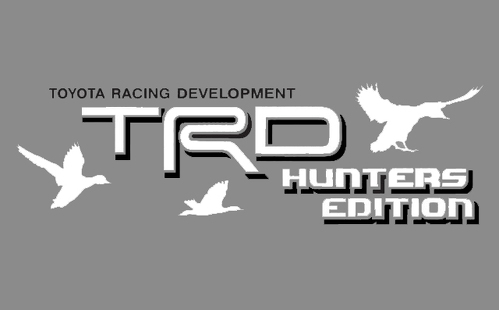 2 TOYOTA TRD HUNTER EDITION DECAL ALL TERRAIN DECAL Mountain  TRD racing development side vinyl decal sticker 3