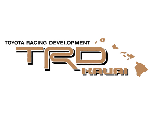 2 TOYOTA TRD KAUAI DECAL ALL TERRAIN DECAL Mountain  TRD racing development side vinyl decal sticker
