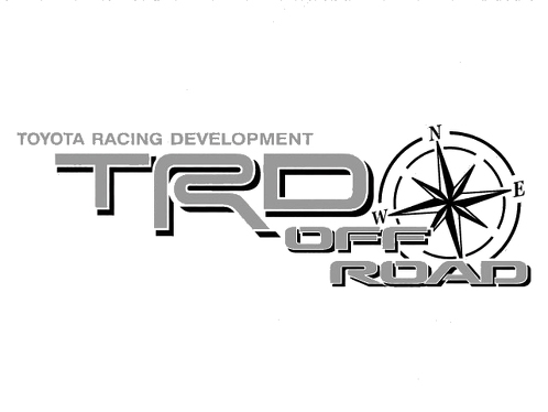 2 TOYOTA TRD OFF ROAD COMPASS ALL TERRAIN DECAL Mountain  TRD racing development side vinyl decal sticker-2