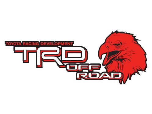 2 TOYOTA TRD OFF ROAD EAGLE Mountain  TRD racing development side vinyl decal sticker