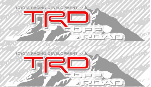 2 TOYOTA TRD OFF Mountain TRD Rennentwicklungsseite Vinyl Aufkleber Aufkleber 3