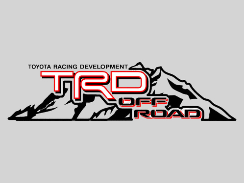 2 TOYOTA TRD OFF  Mountain  TRD racing development side vinyl decal sticker 2