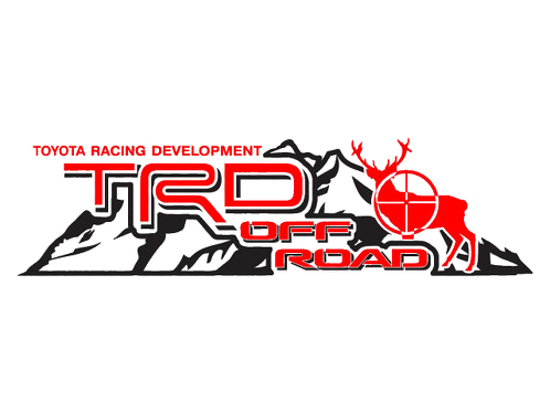 2 TOYOTA TRD OFF  Mountain  TRD racing development side vinyl decal sticker 5