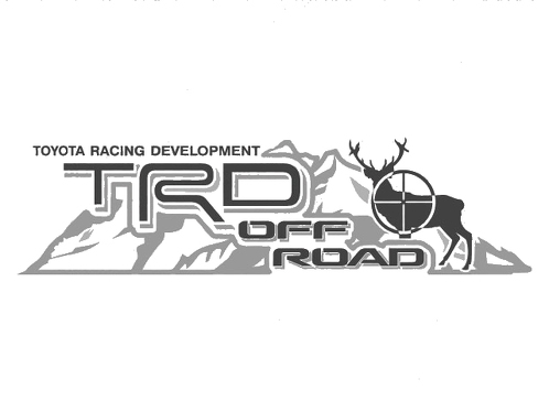 2 TOYOTA TRD OFF  Mountain DEER TRD racing development side vinyl decal sticker 2