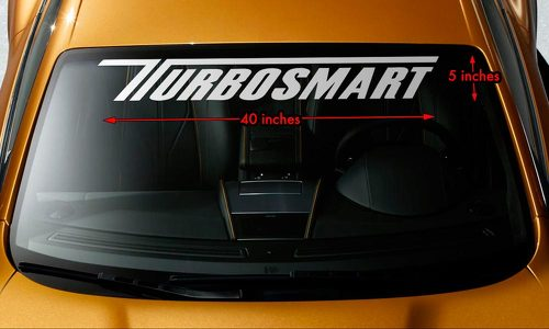 TURBOSMART BOOSTED TURBO CHARGED Windshield Banner Vinyl Decal Sticker 40