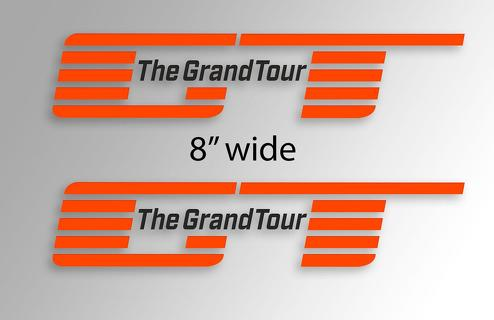 The Grand Tour jeremy clarkson james may and richard hammond new show logo window side decal sticker vinyl