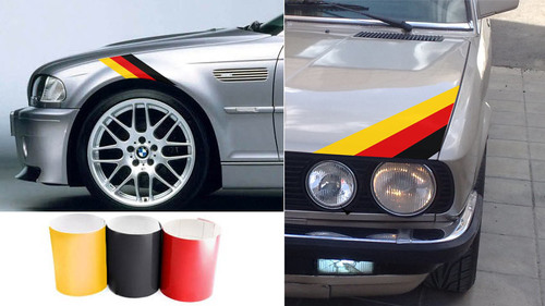Three Color German FLAG Stripe Hood Decal BMW Motorsport M3 M5 M