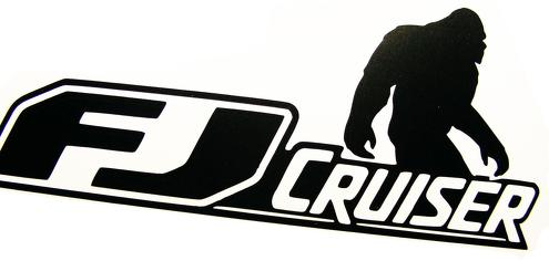 Toyota FJ Cruiser 4x4 Off Road Car Vinyl Decal Sticker