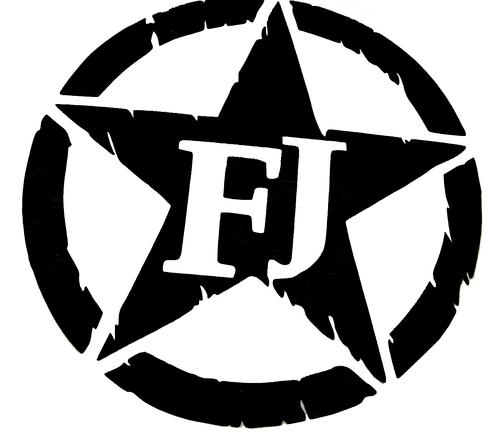 Toyota FJ Cruiser Military Star 4x4 Off Road Car Decal Sticker